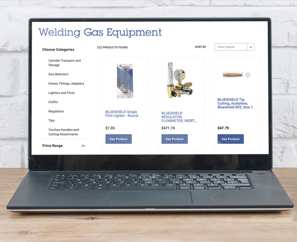 Air Liquide Category Page