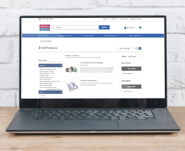 National Industries for the Blind Product Listing Page
