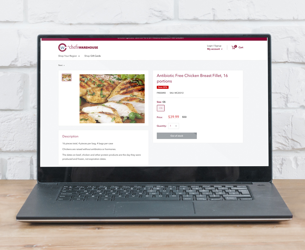 Chefs Warehouse Product Page