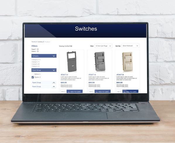 Leviton Product Listing Page