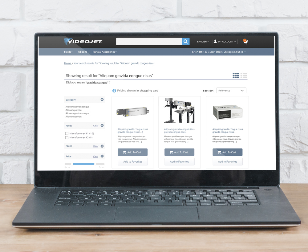 Videojet Product Listing page